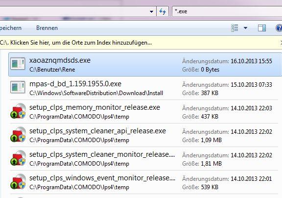 infizierte Datei im Explorer